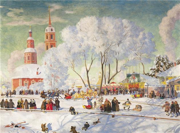 Борис Кустодиев. Масленица