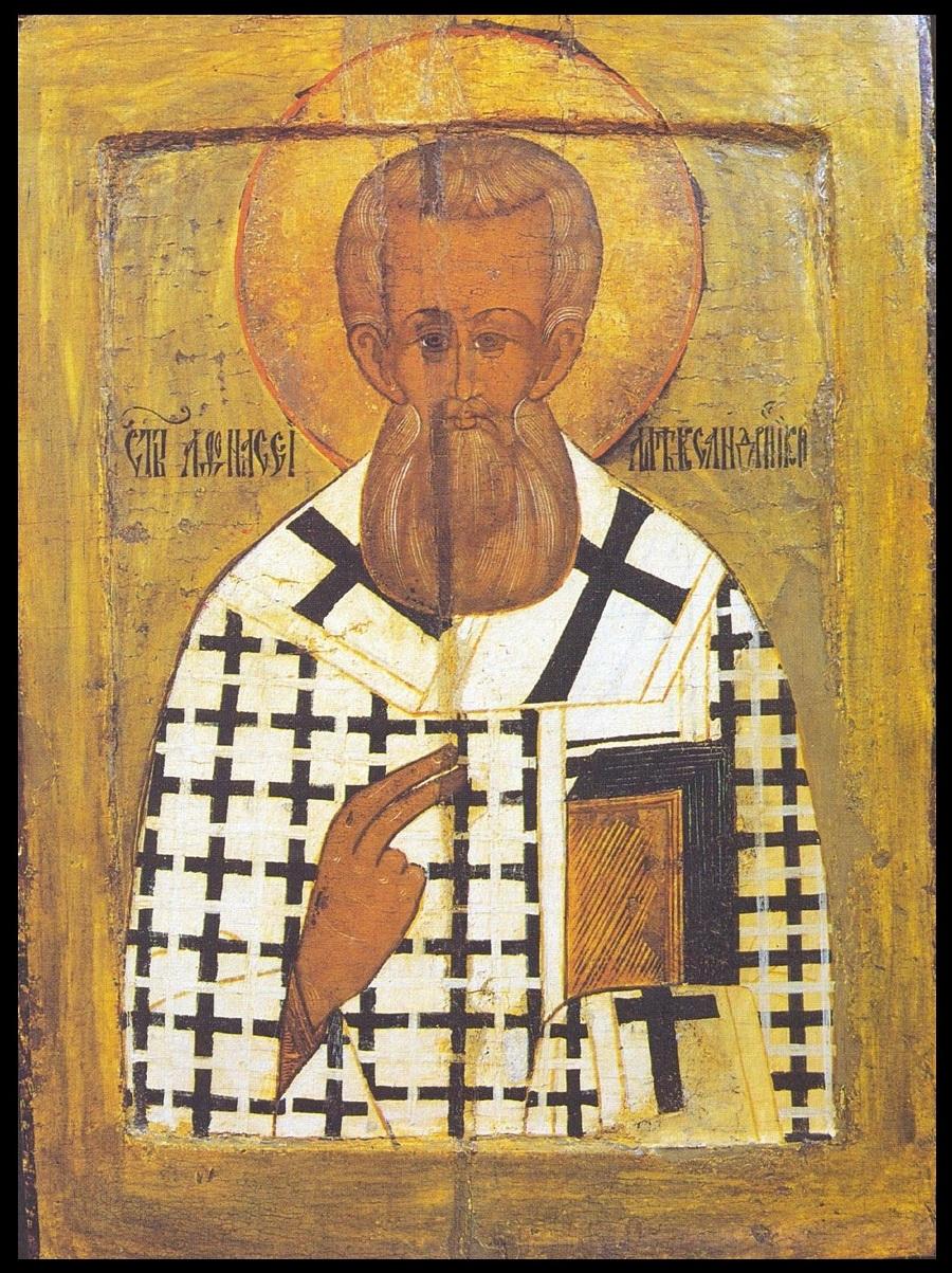 Святитель Афанасий Великий (Александрийский). Икона, XVI век