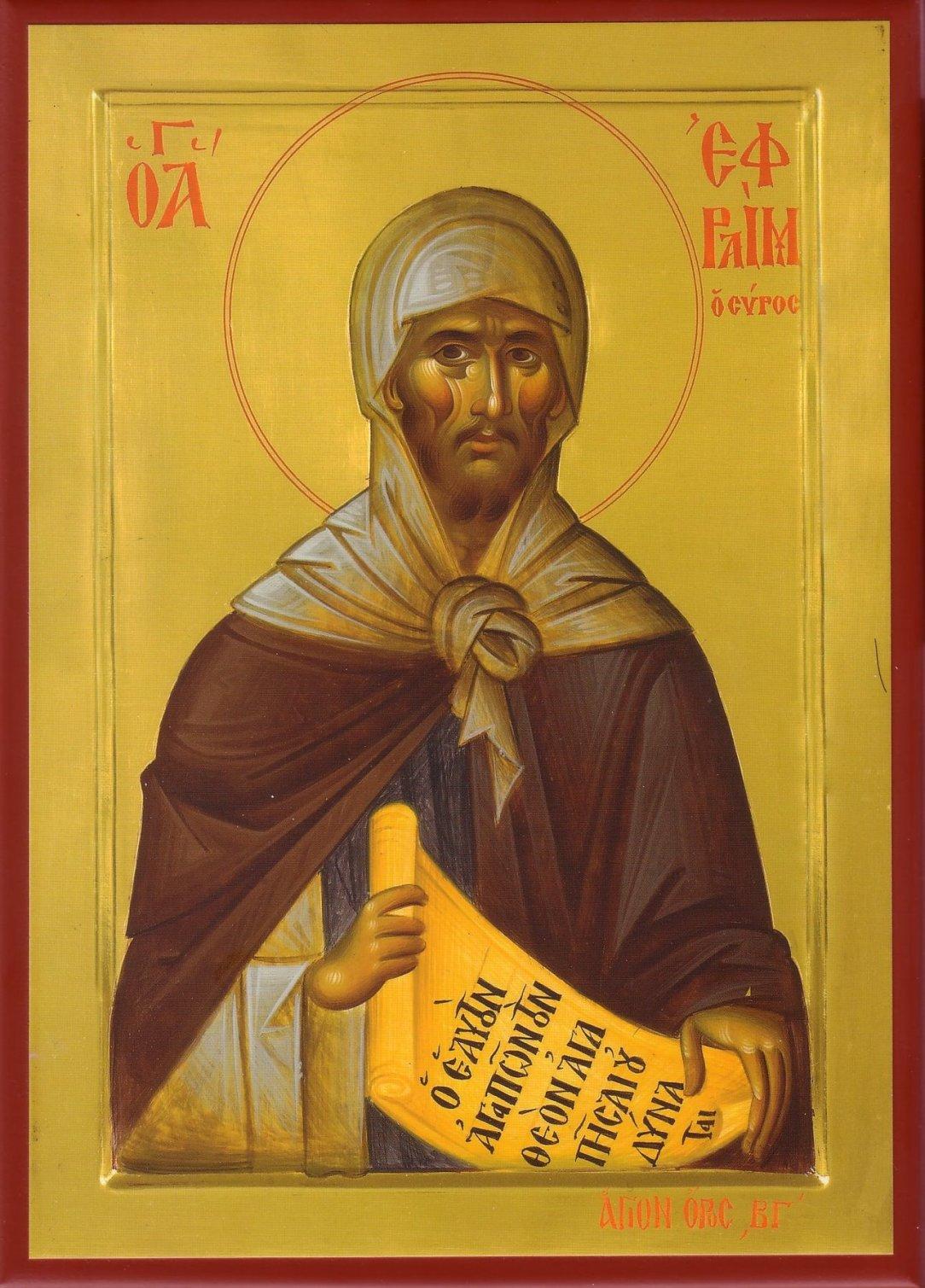 Преподобный Ефрем Сирин. Икона