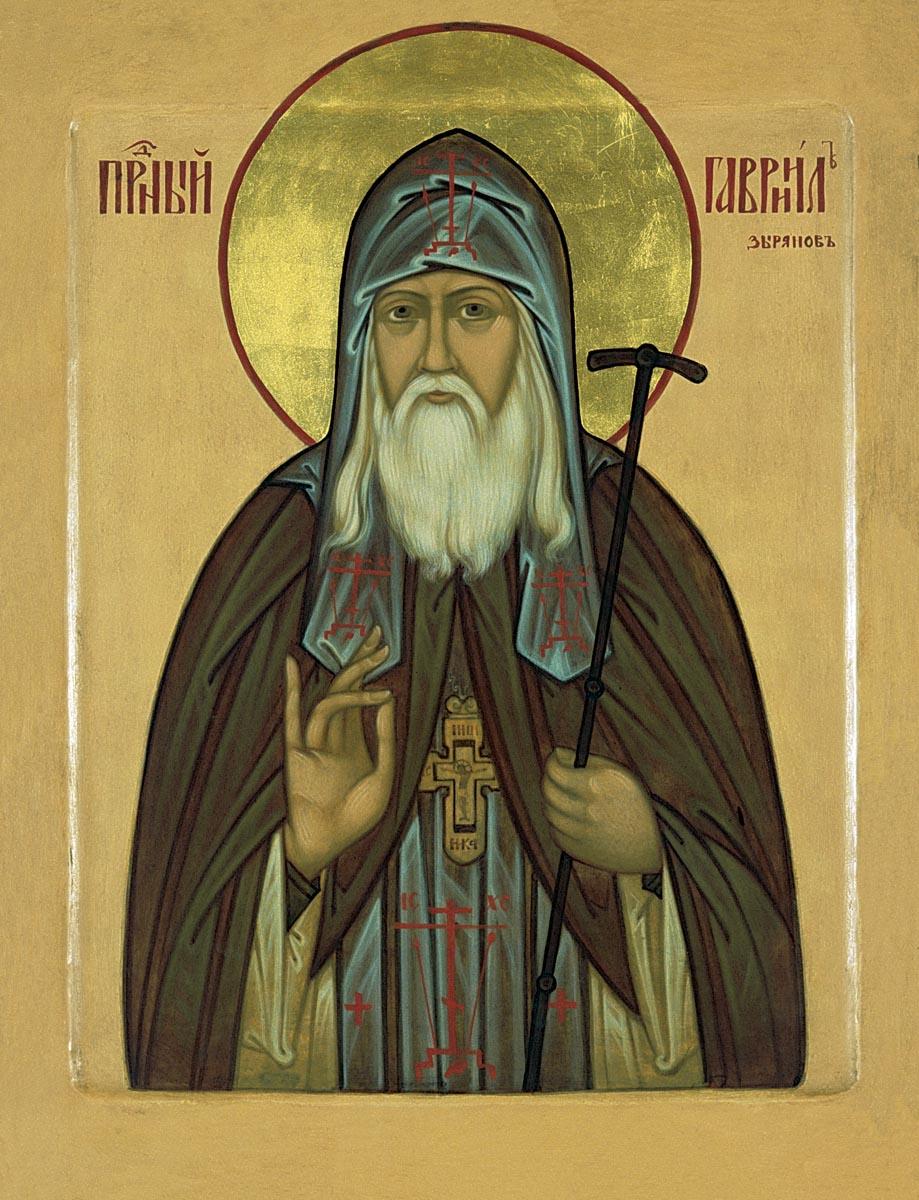 Преподобный Гавриил Седмиезерный (Зырянов). Икона
