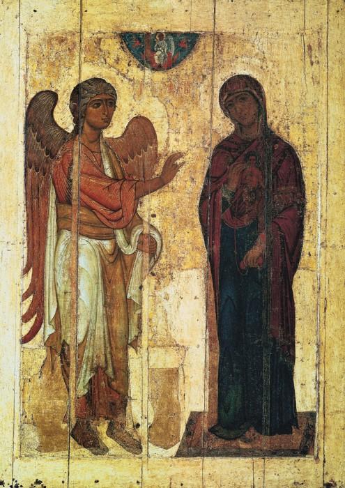 Устюжское Благовещение, Новгородская икона, вторая четверть XII век