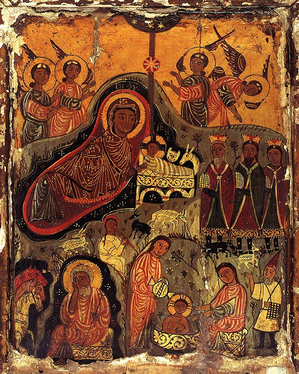 Рождество Христово. Икона - VII - IX в. Монастырь святой Екатерины, Синай