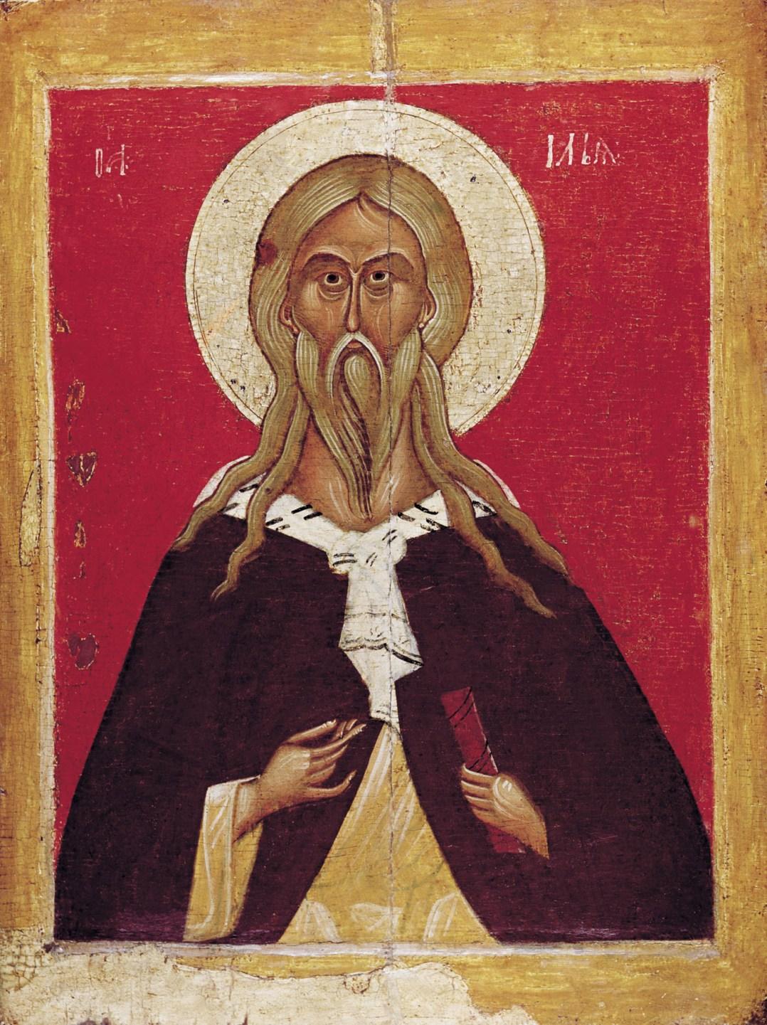 Пророк Илия. Икона, конец XIV - начало XV века. Новгород