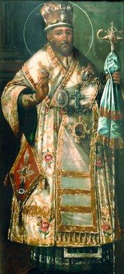 Святитель Иннокентий Кульчицкий, епископ Иркутский. Икона. Начало XIX века (собор Знаменского монастыря в Иркутске)