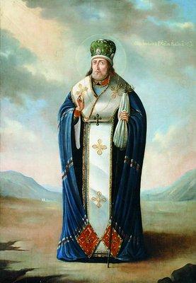 Святитель Иннокентий Кульчицкий, епископ Иркутский. Икона, XIX века (собор Знаменского монастыря в Иркутске)