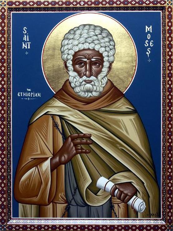 Преподобный Моисей Мурин. Икона