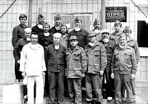 Май 1986 года, Чернобыль. Участники ликвидации пожара на Чернобыльской АЭС в ночь с 22 на 23 мая 1986 года