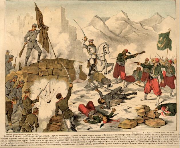 Народные картинки о подвигах генерала Михаила Скобелева