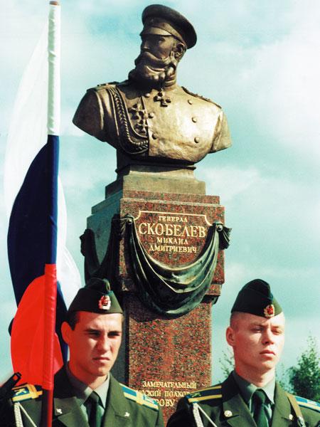 Бюст генерала Михаила Скобелева в Рязани