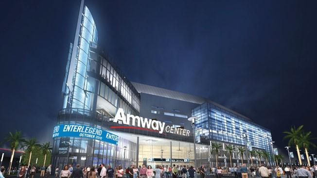 """Строительство арены профинансировала корпарация """"AMWAY"""" совладелец корпорации Рик ДэВос является владельцем команды баскетбольной команды Орландо Мэджик. Строительство арены обошлось в 480 млн. долларов..."""