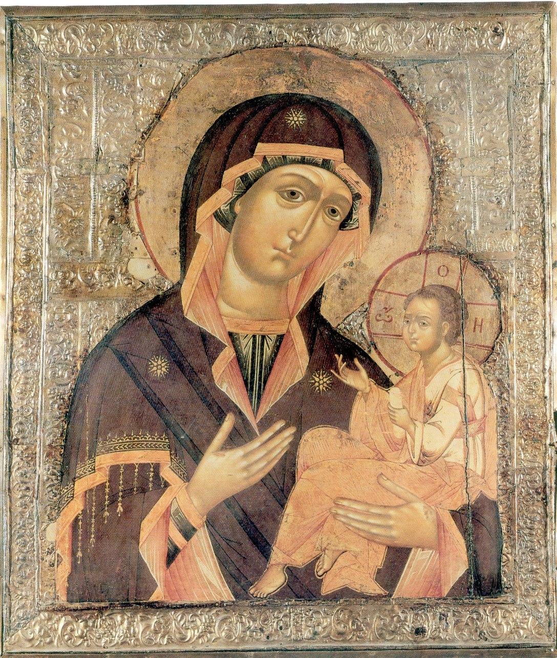 Икона Божией Матери Грузинская. Икона, XIX век
