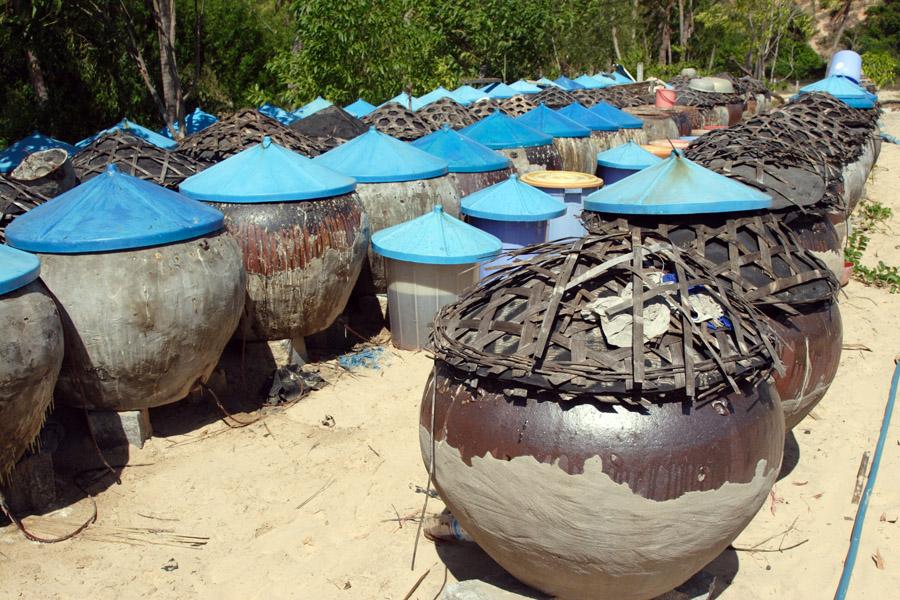 """В этих емкостях на фабрике """"Ныок мам"""" вьетнамцы делают свои рыбные соусы"""